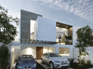Fachada principal: Casas de estilo  por Pure Design