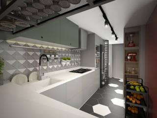APARTAMENTO BRAVA 603: Cozinhas  por TÉRREO arquitetos,Moderno