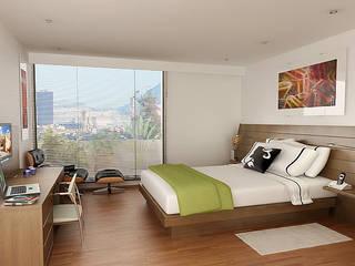 Chambre moderne par MRV ARQUITECTOS Moderne