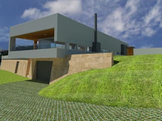 Casas de estilo moderno de Albertina Oliveira-Arquitetura Unipessoal Lda Moderno