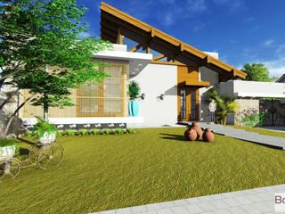 Residência estilo colonial com releitura moderna: Casas  por BOULEVARD ARQUITETURA