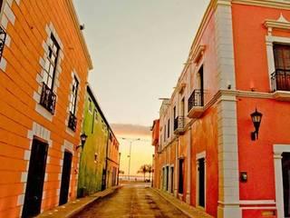 Casona Lizbeth. Centro Histórico Cd Carmen : Casas de estilo colonial por SG Huerta Arquitecto Cancun