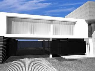 MV Casas de estilo industrial Concreto Blanco
