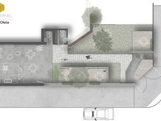 Planta arquitectónica: Cocinas de estilo moderno por Aformal