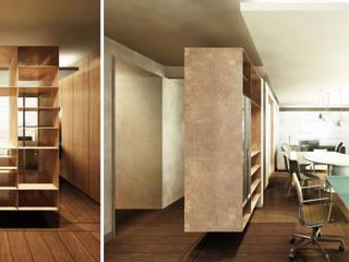 现代客厅設計點子、靈感 & 圖片 根據 Zanatta Figueiredo Arquitetos Associados 現代風