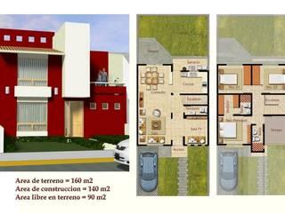 CASA DE 2 NIVELES EN CONDOMINIO HORIZONTAL:  de estilo  por Rueda Arquitectura y Bienes Raíces