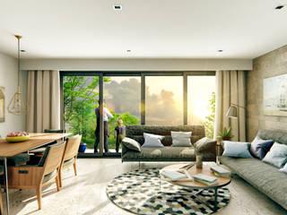 Venturi Residencial: Salas de estilo  por IARKITECTURA