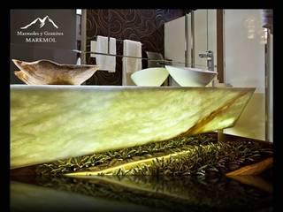 GREEN ONYX Baños modernos de MARMOLES & GRANITOS MARKMOL Moderno
