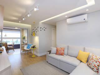 Apartamento Itararé Salas de estar modernas por PAGAMA arquitetura + design Moderno
