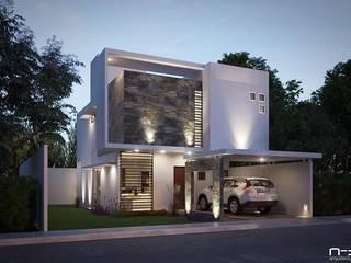 Minimalist house by FERCO Minimalist Concrete
