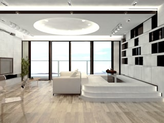 逸瓏灣 Mayfair By The Sea Minimalist living room by Much Creative Communication Limited Minimalist