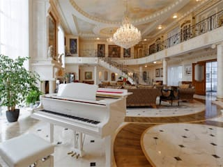 Inan AYDOGAN /IA Interior Design Office Classic style living room Marble Beige