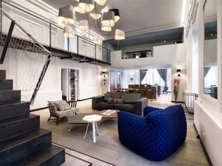 Inan AYDOGAN /IA  Interior Design Office – LUXXE LOFT: eklektik tarz tarz Oturma Odası
