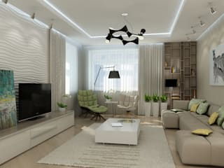 Living room by Дизайн бюро Оксаны Моссур