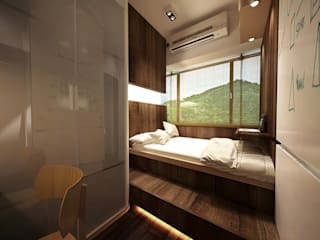 Minimalist bedroom by Much Creative Communication Limited Minimalist