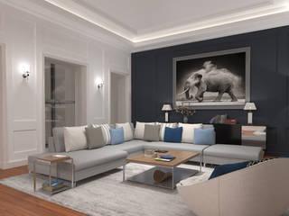 Rénovation d'un hôtel Particulier Salon classique par Archimia Classique
