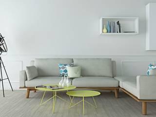 LIVING ROOM: Soggiorno in stile in stile Minimalista di Home-designer.it  Consulenza e Progettazione Interni