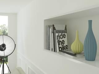 LIVING ROOM: Sala da pranzo in stile in stile Moderno di Home-designer.it  Consulenza e Progettazione Interni