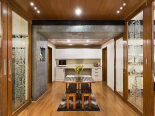 Kalyan Penthouse / Apartment Interiors Phòng ăn phong cách hiện đại bởi Source Architecture Hiện đại