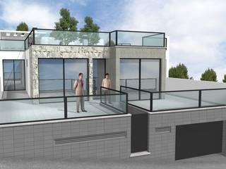 moradia isolada Casas modernas por Desicon Desenho e Construção Civil lda Moderno