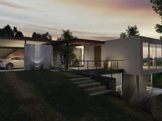 AR arquitectos Casas modernas Concreto