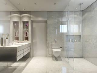 modern Bathroom by STUDIO GUTO MARTINS