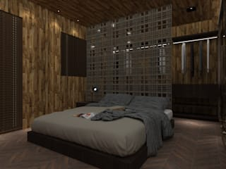 Industrial style bedroom by Studio Diego Duracenski Interiores Industrial