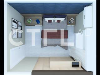 Suíte Master Masculina Quartos modernos por CTRL | arquitetura e design Moderno