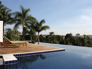 acr arquitetura Modern pool Wood White