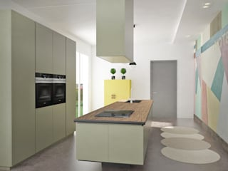 Progettazione cucina e sala da pranzo di scalvini luca design Minimalista