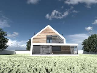 Projekt domu Tychy, nowoczesny: styl , w kategorii  zaprojektowany przez MiA Projektowanie Michał Kanclerz