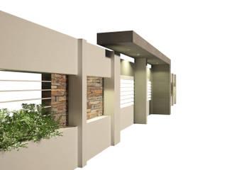 FACHADA INGRESO VIVIENDA FAMILIAR Casas modernas: Ideas, imágenes y decoración de OFICINA arquitectura&diseño Moderno Hormigón