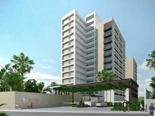 Acceso principal: Casas de estilo  por TaAG Arquitectura