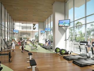 Gym: Gimnasios de estilo  por TaAG Arquitectura