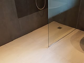 Bathroom renovation in London - after:   by PerfectWorks Painting & Renovation