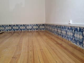 Remodelação de Apartamento : Salas de estar  por Vitor Gil, Unip, Lda,Rústico
