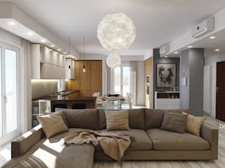 Modern living room by Beniamino Faliti Architetto Modern