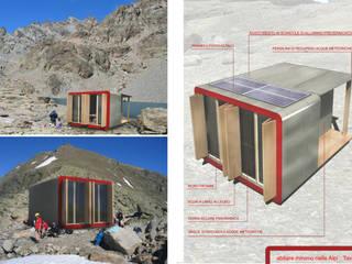 Bivacco Breno Case in stile minimalista di rendering4you Minimalista