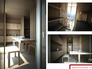 Bivacco Breno Soggiorno minimalista di rendering4you Minimalista