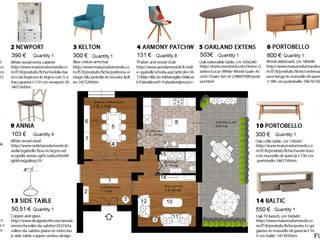 Da limoniera a cucina: come trasformare una casa Anni 50: Soggiorno in stile  di Paola Boati Architetto