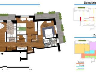 Ristrutturazione alloggio: Soggiorno in stile  di Paola Boati Architetto