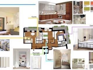 Ristrutturazione alloggio: Camera da letto in stile  di Paola Boati Architetto