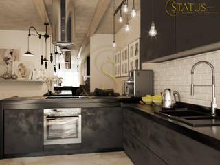 Студия лофт Кухня в стиле лофт от status Лофт