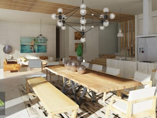 Dining room by GHT EcoArquitectos, Modern
