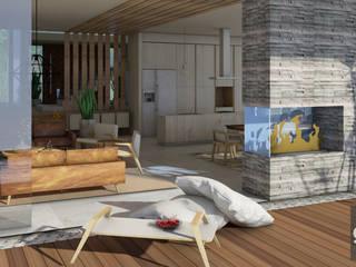 Modern balcony, veranda & terrace by GHT EcoArquitectos Modern