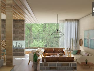 Modern living room by GHT EcoArquitectos Modern