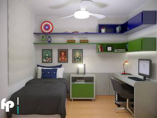 Apartamento Jovem Casal: Quarto infantil  por Flavia Peixoto Interiores,Moderno