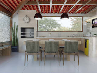 Varanda Gourmet: Jardins  por Flavia Peixoto Interiores