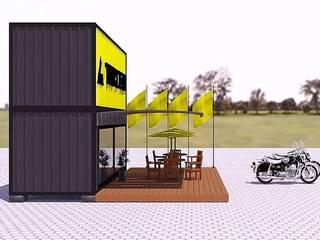 Container - ShowRoom: Casas  por Jullien Veiga Arquitetura,Industrial