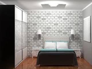 Projeto de interiores - Quarto de casal: Quartos  por Jullien Veiga Arquitetura,Clássico